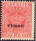 """Timor 1884 Stamps of Macau Overprinted """"TIMOR"""" c"""