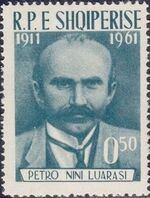 Albania 1962 50th Anniversary of the Death of Petro Nini Luarasi a