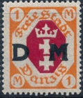"""Danzig 1921 Issues from 1921-1922 Overprinted """"D M"""" k"""