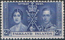 Falkland Islands 1937 George VI Coronation c