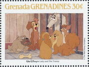 Grenada Grenadines 1988 The Disney Animal Stories in Postage Stamps 5g