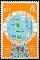 New Hebrides Condominium-British 1978 Map of New Hebrides c