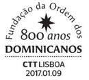 Portugal 2017 800 Years of the Foundation of Dominicans Order PMa