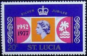 St Lucia 1977 25th Anniversary of the Reign of Elizabeth II b