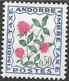 Andorra-French 1965 Flowers - 2nd Group (Postage Due Stamps) c.jpg