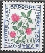 Andorra-French 1965 Flowers - 2nd Group (Postage Due Stamps) c