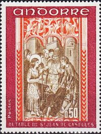 Andorra-French 1971 Frescoes b