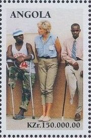 Angola 1998 1st Anniversary of the Death of Diana (3rd Group) b