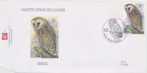 Belgium 1999 Owls FDCa