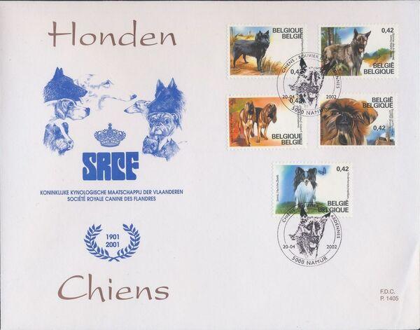 Belgium 2002 Belgian Dog Breeds FDCa