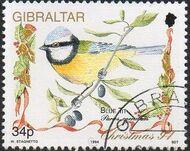 Gibraltar 1994 Christmas - Songbirds c