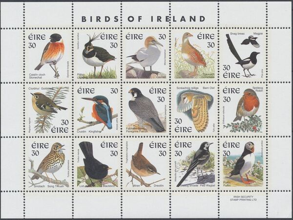 Ireland 1999 Birds of Ireland w