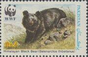 Pakistan 1989 WWF Asiatic Black Bear b