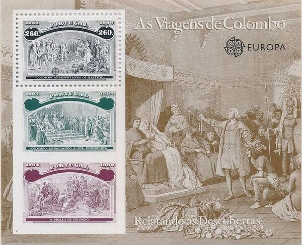 Portugal 1992 EUROPA - 5th Centenary of Discovery of America SSe