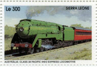 Sierra Leone 1995 Railways of the World 4f