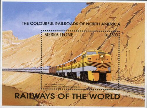 Sierra Leone 1995 Railways of the World SSb