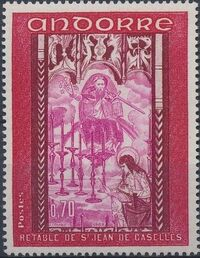 Andorra-French 1969 Frescoes c