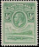Basutoland 1933 George V, Crocodile and River Scene a
