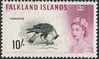 Falkland Islands 1960 Queen Elizabeth II and Birds n