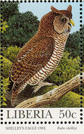 Liberia 1997 Native Owls b