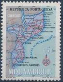 Mozambique 1954 Map of Mozambique c