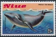 Niue 1983 Protect the Whales b