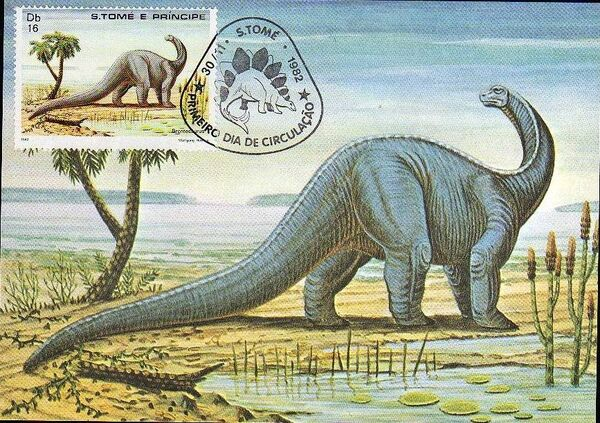 St Thomas and Prince 1982 Dinosaurs l