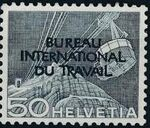 Switzerland 1950 Landscapes and Technology Official Stamps for The International Labor Bureau i