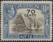 Aden 1951 King George VI Pictorials with New Values f