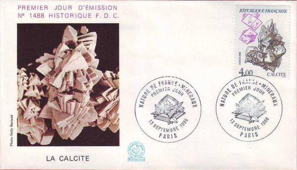 France 1986 Minerals FDCk