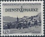 Liechtenstein 1947 Stamps of 1944-1945 overprinted - Official Stamps b