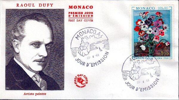 Monaco 1968 International Flower Show, Monte Carlo FDCb