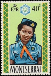 Montserrat 1970 60th Anniversary of Girl Guides d