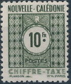 New Caledonia 1948 Numerals (Official Stamps) i