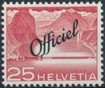 Switzerland 1950 Engineering - Switzerland Postage Stamps of 1949 Overprinted Officiel e