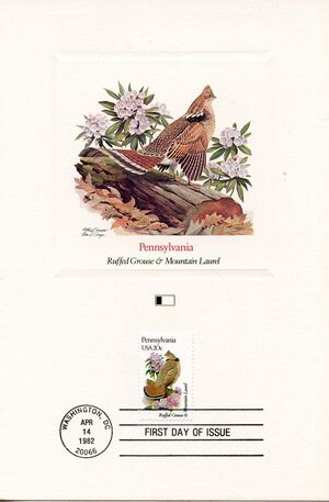 United States of America 1982 State birds and flowers FOLe2