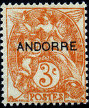 "Andorra-French 1931 Type ""Blanc"" of France Overprinted ""ANDORRE"" c"