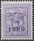 Belgium 1966 Heraldic Lion with Precancellations j