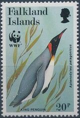 Falkland Islands 1991 WWF - King Penguin d
