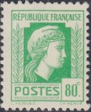 France 1944 Series d'Algiers (Cock of Alger and Marianne of Fernez) k