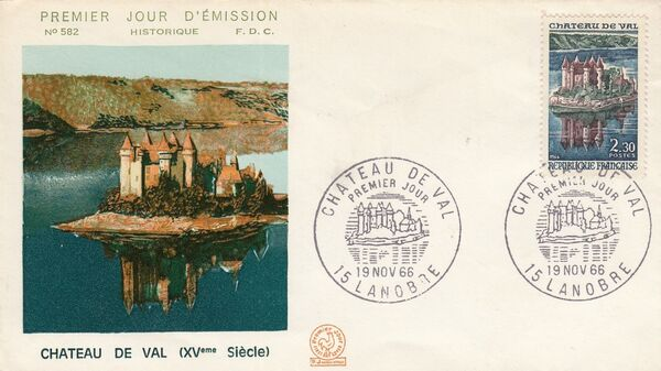 France 1966 Tourism - Val Chateau FDCb