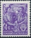 Germany DDR 1953 Workers For The Five-year Plan c