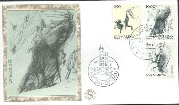 "San Marino 1976 ""Civic Virtues"" FDCb"