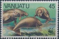Vanuatu 1988 WWF Dugong d