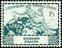 Falkland Islands 1949 75th Anniversary of Universal Postal Union UPU c