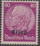 German Occupation-Alsace 1940 Stamps of Germany (1933-1936) Overprinted in Black l
