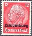 German Occupation-Luxembourg 1940 Stamps of Germany (1933-1936) Overprinted in Black g.jpg