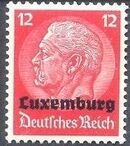 German Occupation-Luxembourg 1940 Stamps of Germany (1933-1936) Overprinted in Black g
