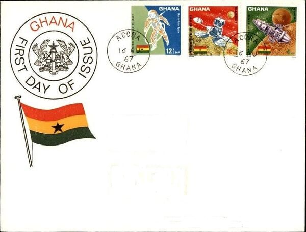 Ghana 1967 Achievements in Space FDCa