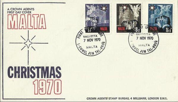 Malta 1970 Christmas FDCb